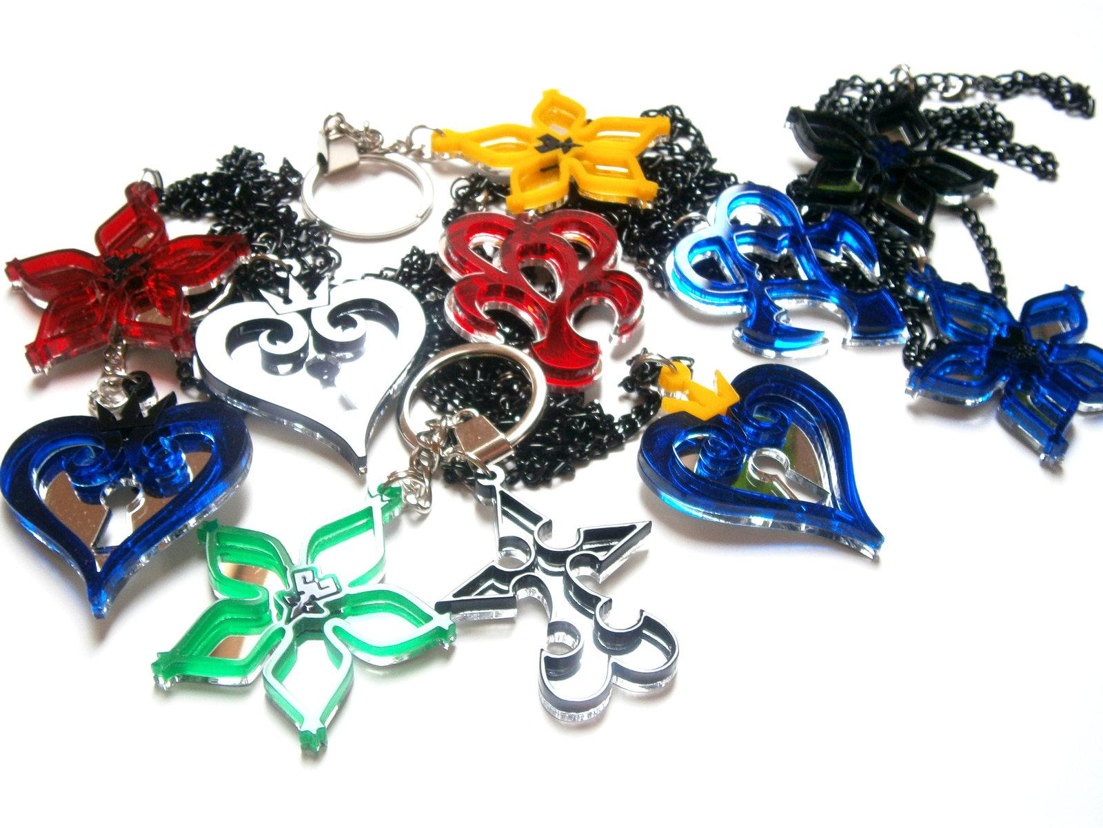 Kingdom Hearts Nobody Emblem Necklace And Similar Items