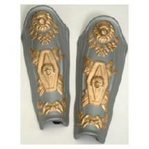 Silver Foam ROMAN LEG GUARDS medieval trojan knight greek gladiator cost... - $15.32 CAD