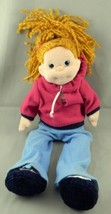 "TY Beanie Boppers Naughty Natalie Plush Stuffed Doll 13"" Blue Pants 2002 - $9.39"