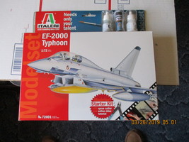 Italeri  EF-2000 Typhoon w/Sprue Cutter, paint, brush & Video 1/72 scale - $29.99