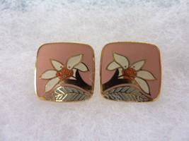 """Authentic Vintage Laurel Burch """"Wild Lily"""" Pierced Enamel Earrings - $22.49"""