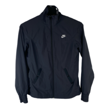 Nike Youth Boys Medium 8-10 Black Full Zip Long Sleeve Track Jacket Wind... - $27.68