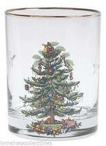 Spode Christmas Tree 14-Ounce DOF Glasses with Gold Rims, Set of 4 NEW IN BOX - $54.45