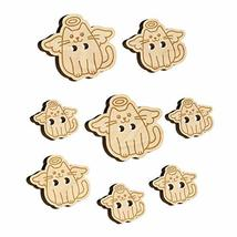 Cat Angel Wood Buttons for Sewing Knitting Crochet DIY Craft - Large 1.25 Inch ( - $9.99