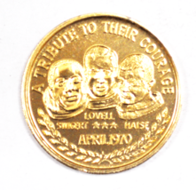 Apollo 13 XIII Lovell Swigert Maise April 1970 Space Medal 39mm NASA Alu... - $9.89