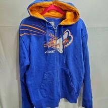 fox racing zip up hoodie mens medium blue oarnge (35) - $31.68