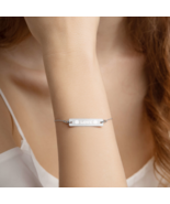 Love Engraved Bar Chain Bracelet With A Sterling Silver Pendant Unique G... - $30.50+