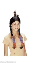NATIVE AMERICAN POCAHONTAS BLACK WIG W/ HAIR BAND ADULT HALLOWEEN ACCESSORY - $23.05