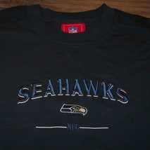 Seattle Seahawks Nfl Football Embroidered T-Shirt Xl New - $19.80
