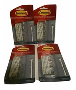 Lot of 4 pks 3M Command 17305CLRES Flat Cord Clips Clear Damage Free Han... - $14.99
