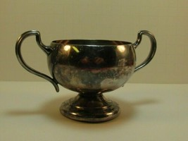 Collectable Vintage BM CO Stamped Silver Plate sugar bowl rk - $35.00