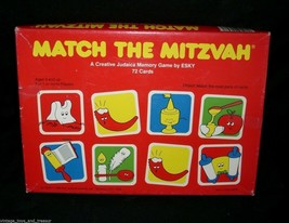 VINTAGE 1989 MATCH THE MITZVAH 100% COMPLETE ESKY MEMORY CARD FUN GAME T... - $15.99