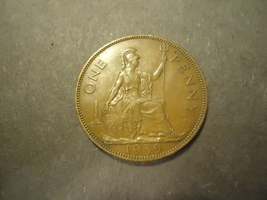 1939 English Large Penny >>Combined Shipping - $2.25