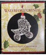 Waterford Crystal Baby's First Christmas Ornament Carriage 2003 Sean O'D... - $46.75