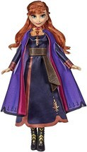 Disney Frozen Singing Anna Fashion Doll with Music Wearing A Purple Dres... - $24.99