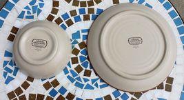 Noritake Stoneware Japan Dinner Plate & Cereal Soup Bowl Boulder Ridge Turquoise image 7