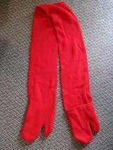 Red Winter Scarf w/ built in Mittens Mitten Gloves Womens Mens Unisex Sn... - $9.99