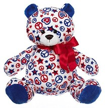 "Ganz 10"" Patriotic Peace Bear Plush Toy - $12.75"