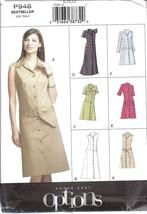 Non Découpé Vogue Patron de Couture Femmes Semi Moulante un Message Robe... - $9.89