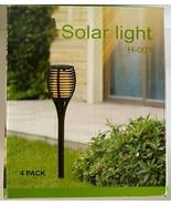 Hiahoo Solar Lights Outdoor, 4 Pack Solar Pathway Lights, Solar Powered ... - $29.69