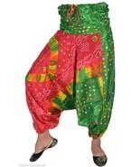 10 Vintage Silky Alibaba Genie Harem Pants Boho Gypsy Trousers TR45 - $80.75