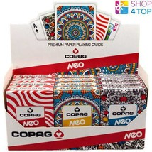 12 DECKS COPAG NEO JUMBO POKER CARDS 4 MANDALA 4 NATURE 4 STRIPE NEW - $71.27