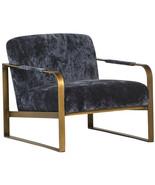 Mid Century Modern Chair Blue Arm Accent Seat Retro Fabric Home Furnitur... - $787.05