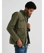 LUCKY BRAND Men's Military Field Jacket M-65 NEW Removable Sherpa Olive ... - $114.94
