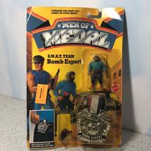 1988 MATTEL MEN OF MEDAL MOC ACTION FIGURE BADGE CLIP ON SWAT TEAM BOMB ... - $74.25