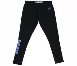 Womens Nike Paris Leggings Black Blue White 635693-013 - $24.99