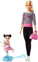 Barbie Ice-Skating Coach & Student Doll with Turning Mechanism FXP38 NEW... - $21.99