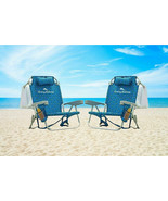 2 PACK - Tommy Bahama Backpack Beach Folding Deck Chair Blue Flower 2020... - £129.58 GBP