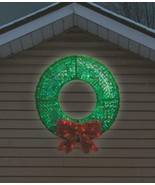 "Large 36"" Lighted LED Christmas Wreath Sculpture Outdoor Christmas Decor... - $107.91"
