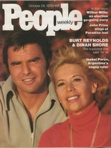 People Weekly Magazine October 28 1974 Burt Reynolds Dinah Shore - $27.83