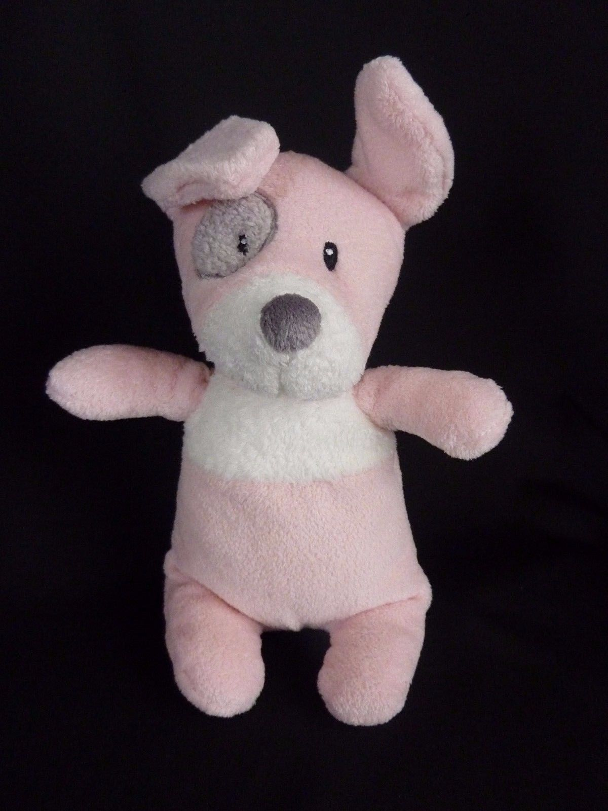 "Primary image for Baby GUND Girl's 11"" Plush Pink SPOTTO PUPPY DOG Toy RATTLE w/ Crinkly Ears"