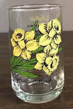 Brockway Daffodil Flower Of The Month Glass Tumbler March Vintage - $19.99