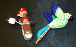 Hallmark Keepsake Ornaments Christmas Parrot & Clever Camper AA-191792D Collecti image 5
