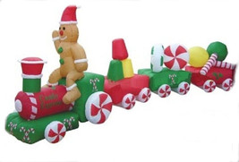 Christmas CANDY TRAIN Airblown Inflatable Yard Decoration 14 1/2 ft Long - €143,04 EUR