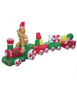 Christmas CANDY TRAIN Airblown Inflatable Yard Decoration 14 1/2 ft Long - $160.93