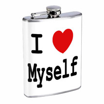 I Love Myself Em1 Flask 8oz Stainless Steel Hip Drinking Whiskey - $13.81