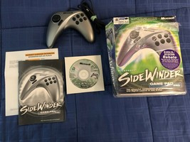 Microsoft SideWinder USB Game Pad Pro Controller Complete Vintage PC - $14.25