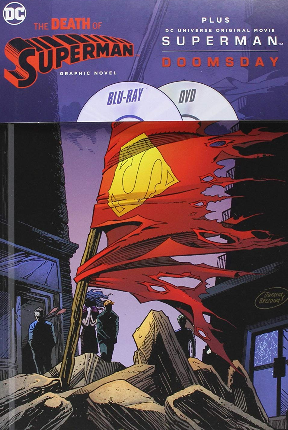 DCU: Superman Doomsday + Death of Superman Graphic Novel Digibook [Blu-ray+DVD]