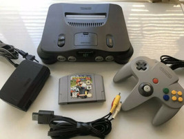 Nintendo 64, N64 System / Console Bundle + Cables + Controller +Mario Kart 64 - $178.15