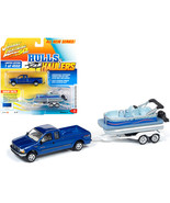 2004 Ford F-250 Pickup Truck Sonic Blue Metallic with Pontoon Boat Limit... - $29.68