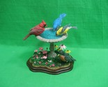 Danbury Mint Summer Gathering Bird Bath Figurine ~ Rare ~ Bob Guge ~