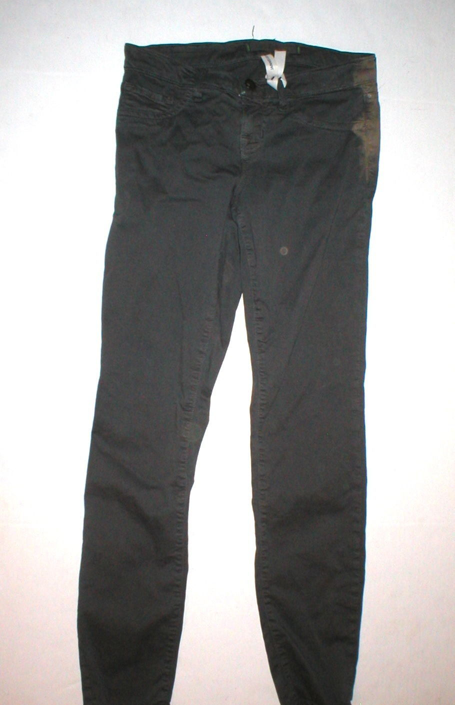 New J Brand Jeans Womens Skinny Pants Twill Machine Gray 24 Dark 26  28 Japanese