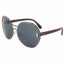 Prada Mod Evolution Oversized PR53TS UE02K1 63 Burgundy Silver Sunglasses - $158.39