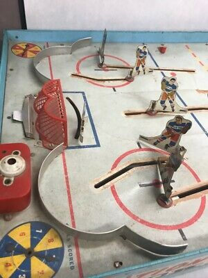 Vintage NHL Superior Action Hockey Table Game Toy Cohn Blackhawks Rangers image 7