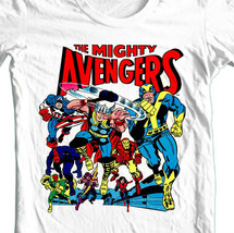 The Mighty Avengers t-shirt retro comic book Hawkeye Wasp Small-4XL 5XL image 1