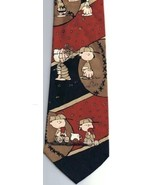 Snoopy Baseball Necktie Charlie Brown Lucy Snoopy  100% Polyester Vintage - $17.57
